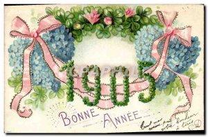 Old Postcard Fancy Happy New Year 1905 Trefles