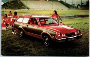 1978 FORD PINTO WAGON Postcard Cheerleaders University Ford Sales Champaign IL