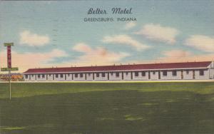 Better Motel, GREENSBURG, Indiana, PU-1953