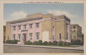 North Carolina Lenoir Caldwell Couny Court House