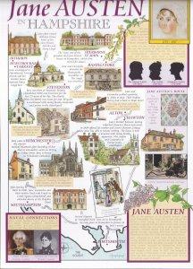 Jane Austen In Hampshire Giant Rare Postcard