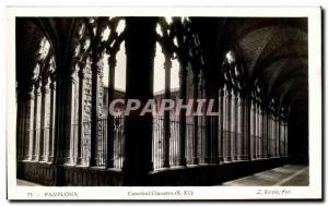 Old Postcard Pamplona Cathedral Cloister