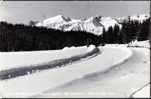 WOLF CREEK PASS in winter - REAL PHOTO - Hwy #160 / COLORADO