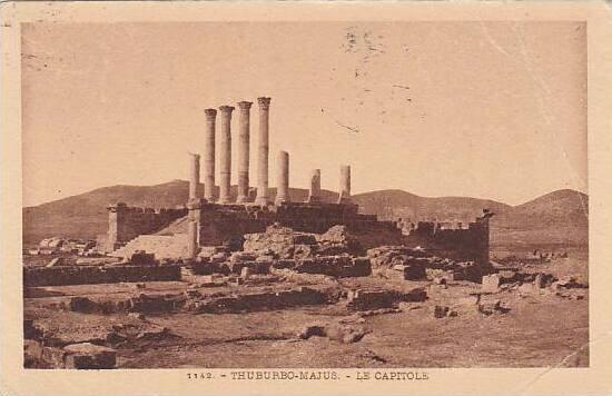 Tunisia Thuburbo-Majus Le Capitole 1933