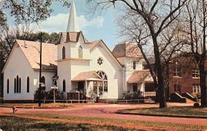 Cherryvale Kansas~First United Presbyterian Church~Brick Street~1960s Postcard