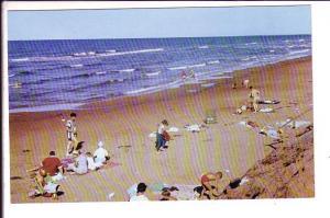 North Shore Beach  Prince Edward Island, Canada, Baby in Wooden Playpen