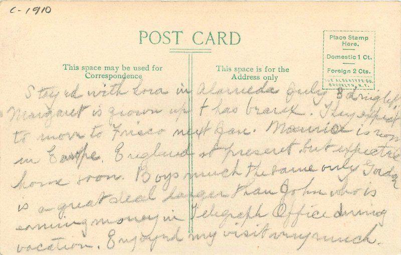 Birdseye View C-1910 Donner Lake California postcard 9557