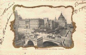 Germany Berlin Kurfürstenbrücke mit Königliche Schloss 03.42