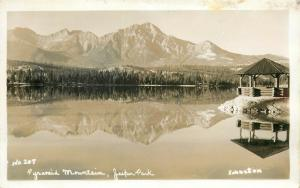 Pyramid Mountains Jasper Park Alberta Canada RPPC Johnston Postcard