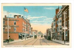 Main Street, Looking East, Store Fronts, Johnson City, New York, 1910-1920s