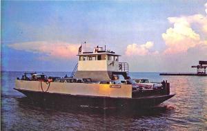 Marblehead & Kelleys Island Ferry Boat Corsair Old Cars Postcard