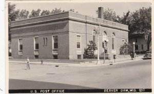Wisconsin Beaver Dam Post Office Real Photo sk4223