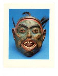 Tlingit  Mask 1890's  AGO Toronto Ontario, Large 5 X 6.5 inch Postcard