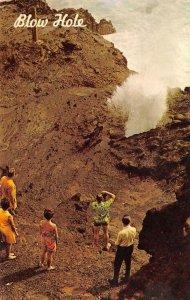 BLOW HOLE Honolulu, Hawaii Koko Head, Oahu 1969 Chrome Vintage Postcard