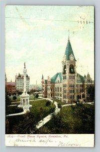 Scranton PA-Pennsylvania, Courthouse Square, Vintage Postcard