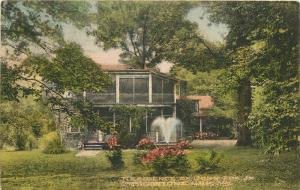 Albertype Big Stone Gap Virginia hand colored 1941 Postcard Residence Fox 1169