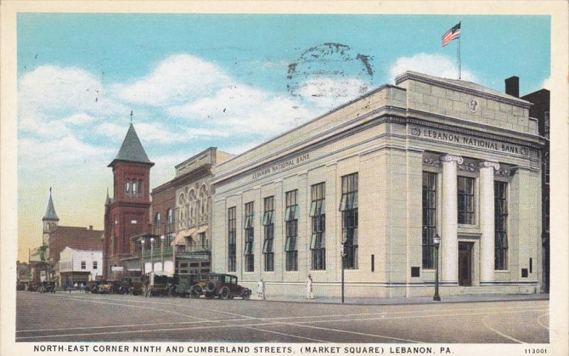 LEBANON, Pennsylvania, PU-1934; North East Corner Ninth And Cumberland Street...