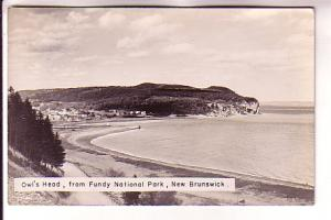 Real Photo, Owls Head, Fundy Park, New Brunswick,