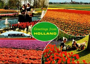 Greetings From Holland Advertsing Dutch Gardens Montvale New Jersey