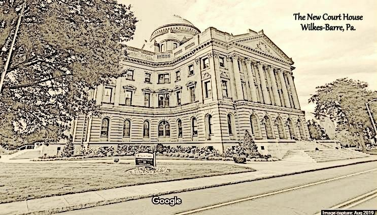 Wilkes-Barre Pennsylvania~New Courthouse Artist Conception~Mansard Dome* c1907