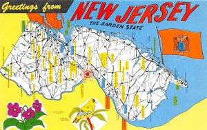 Maps New Jersey USA Unused