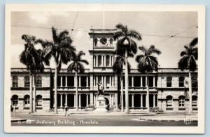 Postcard HI Honolulu Judiciary Building RPPC K H Real Photo M06