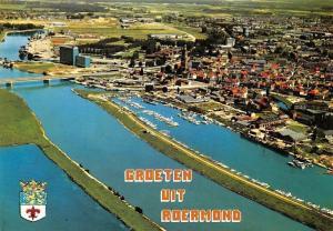 Netherlands Groeten uit Roermond Harbour Boats, Bridge Pont Bateaux Panorama
