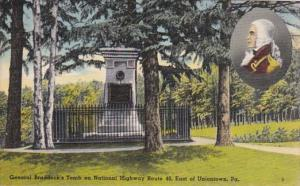 Pennsylvania General Braddock's Tomb On National Highway Route 40 East Of Uni...