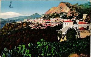 CPA Taormina Panorama con l'Etna . ITALY (496318)