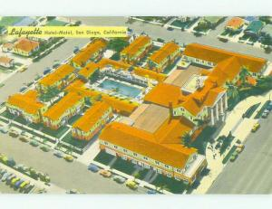 Pre-1980 AERIAL VIEW OF LAFAYETTE MOTEL San Diego California CA HQ2422