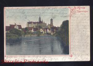 SIGMARINGEN GERMANY SCLOSS SEE 1905 ANTIQUE VINTAGE POSTCARD GERMAN