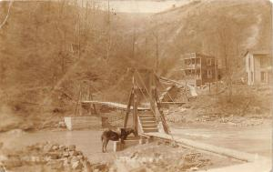 E82/ Littleton West Virginia RPPC Postcard Wetzel Co 1912 Suspension Bridge 7