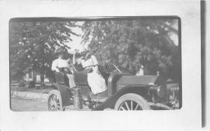 F22/ Early Automobile Real Photo RPPC c1910 People Postcard 7