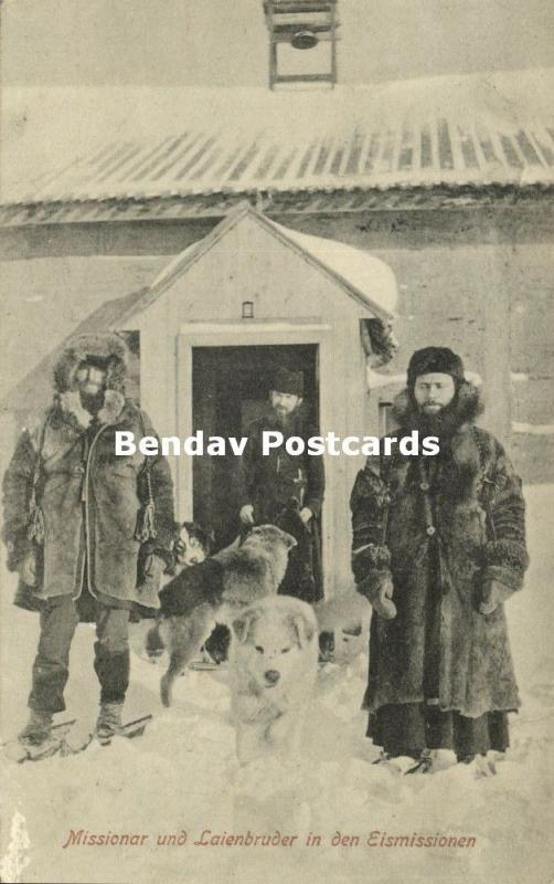 canada, British Columbia, Missionaries and Lay Brother in the Ice Mission (1910)