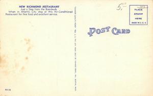 Atlantic City NJ~New Richmond Restaurant Interior~Yellow & Chrome~ART DECO Linen
