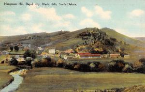 Rapid City South Dakota~Hangman's Hill~Homes & Business Below~Creek~1908 PC