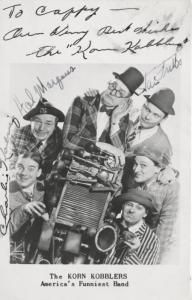 The Korn Kobblers ~ America's Funniest Band ~ 3 Autographs Rare RPPC Postcard