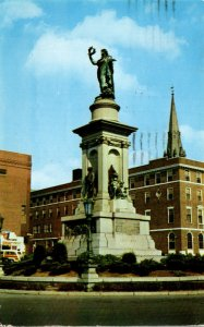 Connecticut Waterbury Soldiers and Sailors Monument 1959