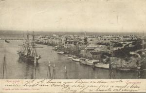 curacao, N.W.I., WILLEMSTAD, Overzijde, Harbour Scene, Ships (1902)