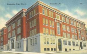 Shamokin High School, Shamokin, Pa unused linen Postcard