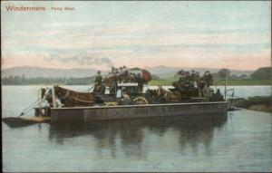 Windermere UK Ferry Boat Stagecooach c1910 Postcard