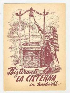 Ristorante  La Cisterna , Trastevere, Roma, Italy, 1950-1960s