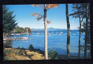 Gilford, New Hampshire/NH Postcard,  Peaceful Anchorage On Lake Winnipesaukee