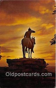 Indian Scout Kansas City, MO, USA Postcard Post Cards Kansas City, MO, USA In...