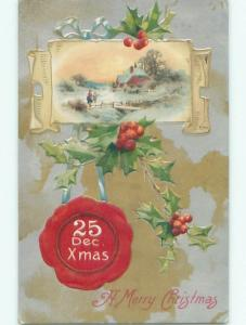 Divided-Back CHRISTMAS SCENE Great Postcard AA0097