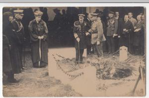 Royalty; King & Queen Of England Visit Grave Of Edith Cavell RP PPC, Unused
