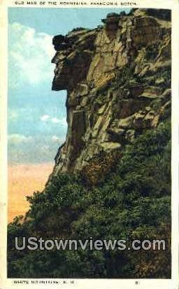 Old Man of the Mountains Franconia Notch NH Unused