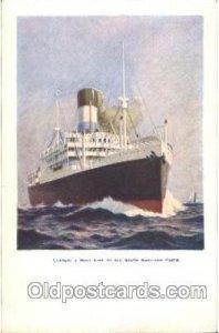 Lamport a holt line Steamer Ship Unused crease bottom edge, minor corner wear...