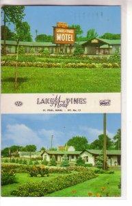 Lake & Pines Motel, St. Paul, Minnesota ! Bi-View !