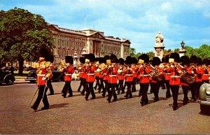 England London Buckingham Palace Guards Band 1966
